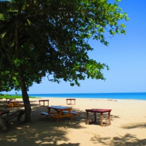 Stunning beachfront land with wide frontage