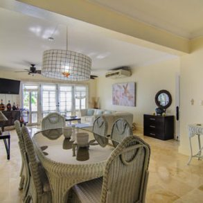 Fully furnished three bedroom beachfront apartment in the center of Sosua